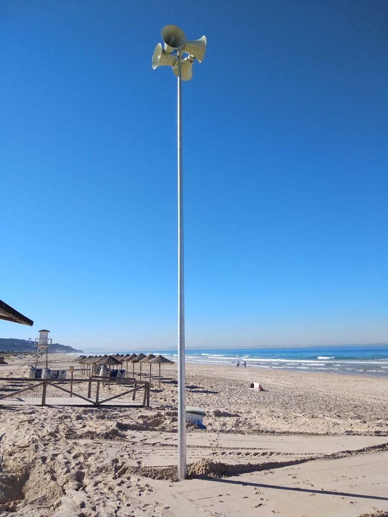 El Ayuntamiento de Barbate confía a InnovaSur la instalación de un novedoso sistema de megafonía para la evacuación de la playa